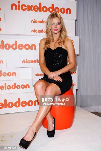 Samara Weaving poses in the awards room during the 2011 Nickelodeon Kid's Choice Awards at the Sydney Entertainment Centre on October 7 2011 in...