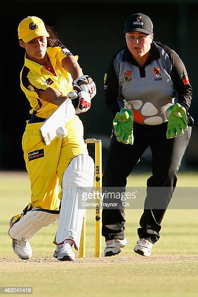 Samara Williams of Western Australia bats against the Northern Territory during the 20415 Imparja Cup on February 12 2015 in Alice Springs Australia