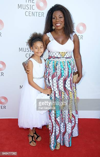 Samara Zane and actress Lorraine Toussaint attend The Music Center's Summer Soiree Honoring Rita Moreno at The Music Center Plaza on July 7 2016 in...