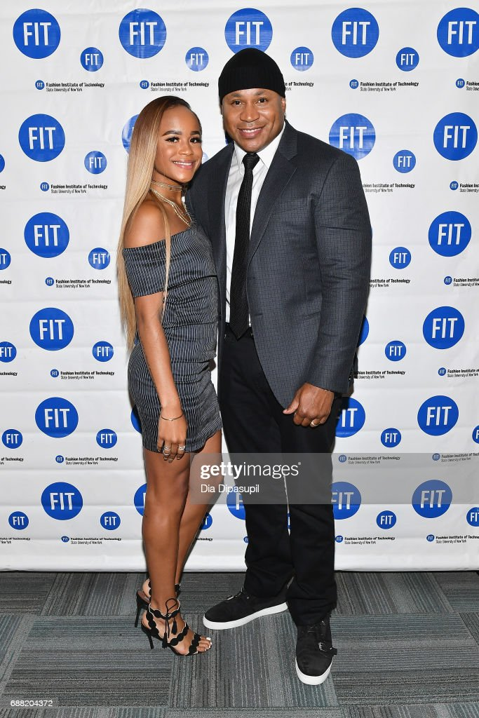 Samaria Leah Smith (L) and LL Cool J attend The Fashion Institute of Technology's 2017 Commencement Ceremony at Arthur Ashe Stadium on May 25, 2017 in New York City.