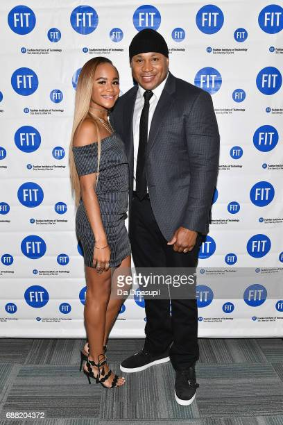 Samaria Leah Smith and LL Cool J attend The Fashion Institute of Technology's 2017 Commencement Ceremony at Arthur Ashe Stadium on May 25 2017 in New...