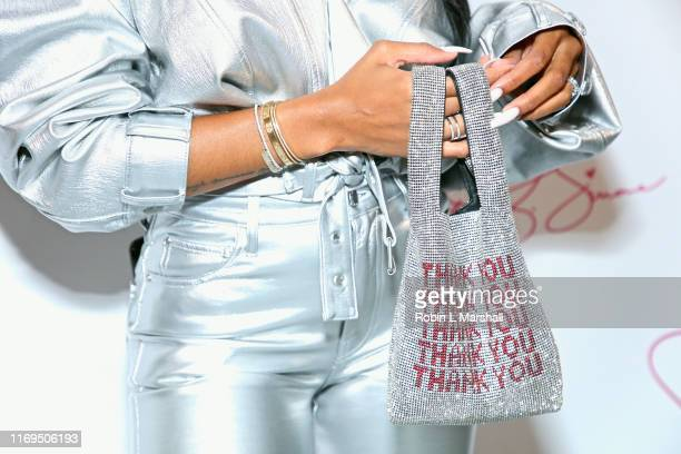 Samaria Leah's accessories at JBW & B. Simone's launch for #BeautyInDiamonds at Dream Hotel on August 21, 2019 in Hollywood, California.
