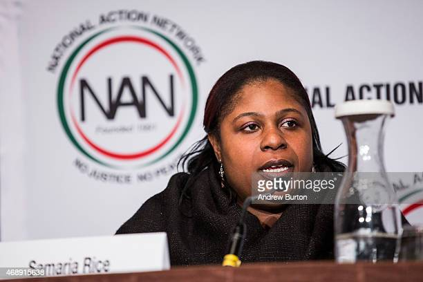 Samaria Rice mother of Tamir Rice who was shot to death by a police officer speak on a panel titled The Impact of Police Brutality The Victims Speak...