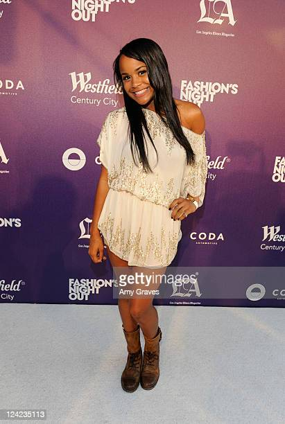 Samaria Smith attends Fashion's Night Out celebration at Westfield Century City on September 8 2011 in Los Angeles California