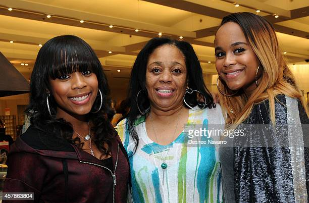 Samaria Smith Ondrea Smith and Italia Smith attend SIS By Simone I Smith Jewelry Event at Macy's Herald Square on October 25 2014 in New York City