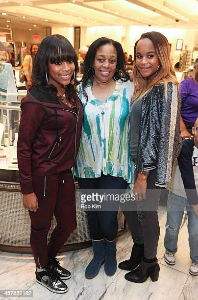 Samaria Smith Ondrea Smith and Italia Smith family of LL Cool J attend SIS By Simone I Smith Jewelry Event at Macy's Herald Square on October 25 2014...