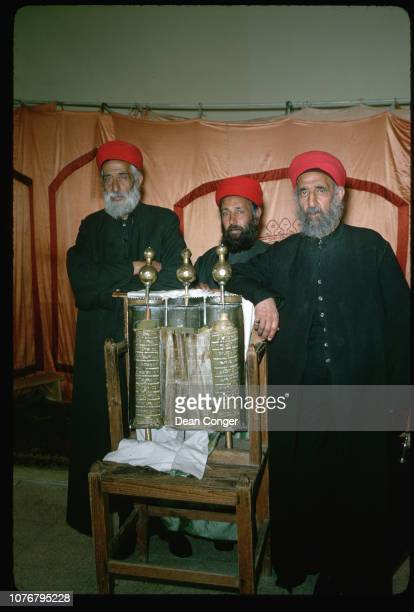 Samaritan Priests With Torah Scrolls