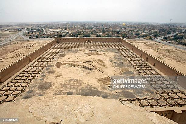 A file picture dated 19 April 2003 shows the remains of the Great Mosque at the ancient city of Samarra along the eastern bank of the Tigris river...
