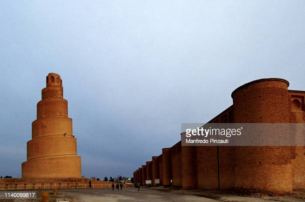 samarra , iraq .  malwiya minaret . - samarra iraq stock pictures, royalty-free photos & images