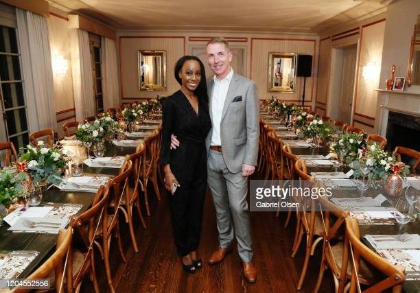 RCGD CEO Samata and Lenzing Global Branding VP Harold Weghorst attend Red Carpet Green Dress at the Private Residence of Jonas Tahlin CEO of Absolut...