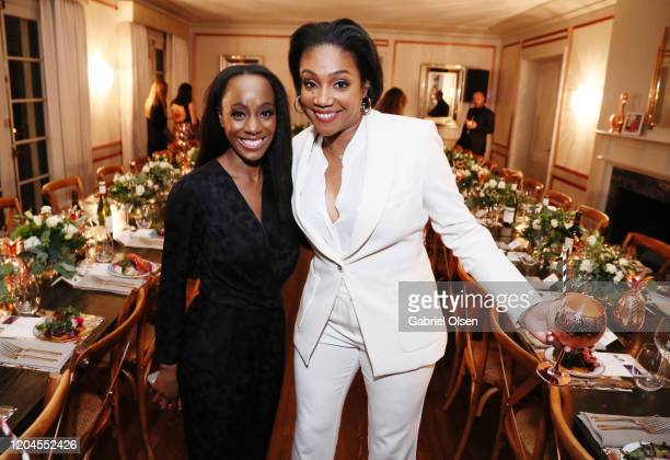 RCGD CEO Samata and Tiffany Haddish attends Red Carpet Green Dress at the Private Residence of Jonas Tahlin CEO of Absolut Elyx on February 06 2020...