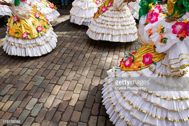 samba carnival dancers - dance troupe stock photos and pictures