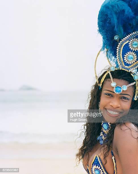 samba dancer on beach - hugh sitton bildbanksfoton och bilder