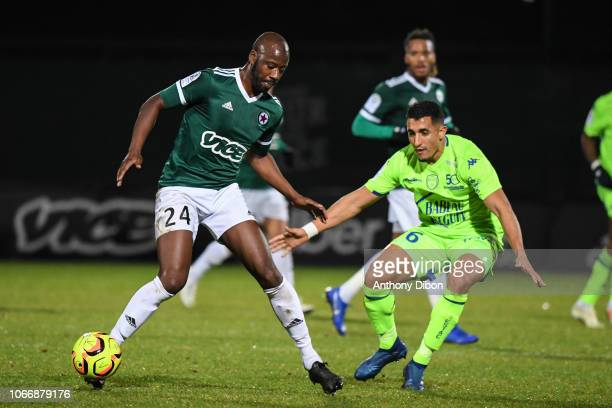 Samba Diakite of Red Star and Ahmed Kashi of Troyes during the Ligue 2 match between Red Star and Troyes at Stade Pierre Brisson on November 30 2018...