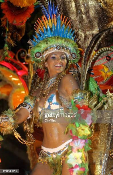 Samba girl at 2007 Samba Parades during Rio Carnivals Samba Parades February 18 2007 in Rio De Janeiro Brazil