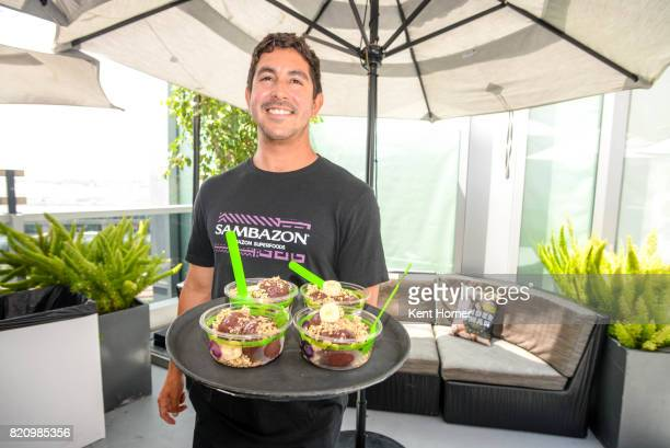 Sambazon Acai Bowl in the EW Studio at San Diego Comic Con on July 20 2017 in San Diego California