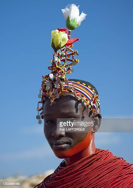 Samburu girl in Kenya on July 13 2009 The Samburu are closely related to the Maasai Like the Maasai they live in the central Rift Valley in Kenya...