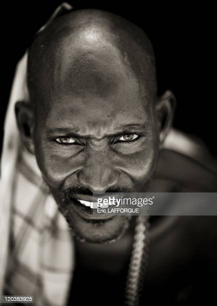 Samburu warrior in Kenya on July 13 2009 The Samburu are closely related to the Maasai Like the Maasai they live in the central Rift Valley in Kenya...