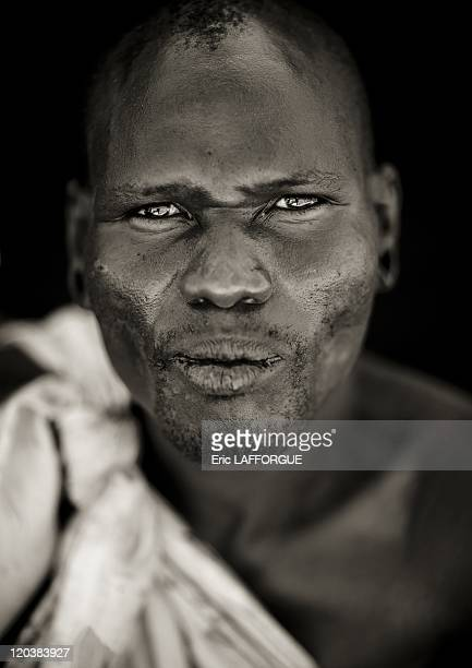 Samburu warrior in Kenya on July 13, 2009 - The Samburu are closely related to the Maasai. Like the Maasai, they live in the central Rift Valley in...