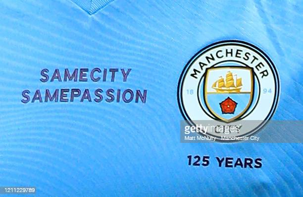 Same City Same Passion wording seen on the shirt worn by Bernardo Silva of Manchester City during the Premier League match between Manchester United...