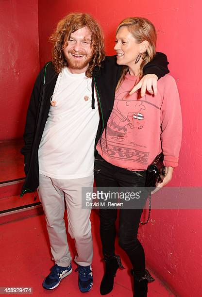 Same Old Sean and Kate Moss attend the launch of Same Old Sean's new EP 'Reckless' at Cafe KaiZen on November 13 2014 in London England