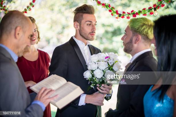 Same sex gay wedding ceremony and party: The ceremony