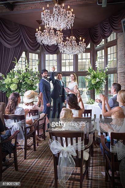 same sex marriage - wedding ceremony stock pictures, royalty-free photos & images