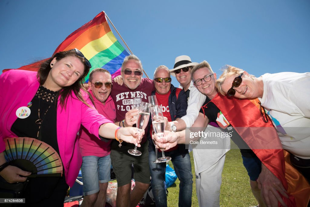 Australians Gather To Hear Result Of Marriage Equality Survey : News Photo