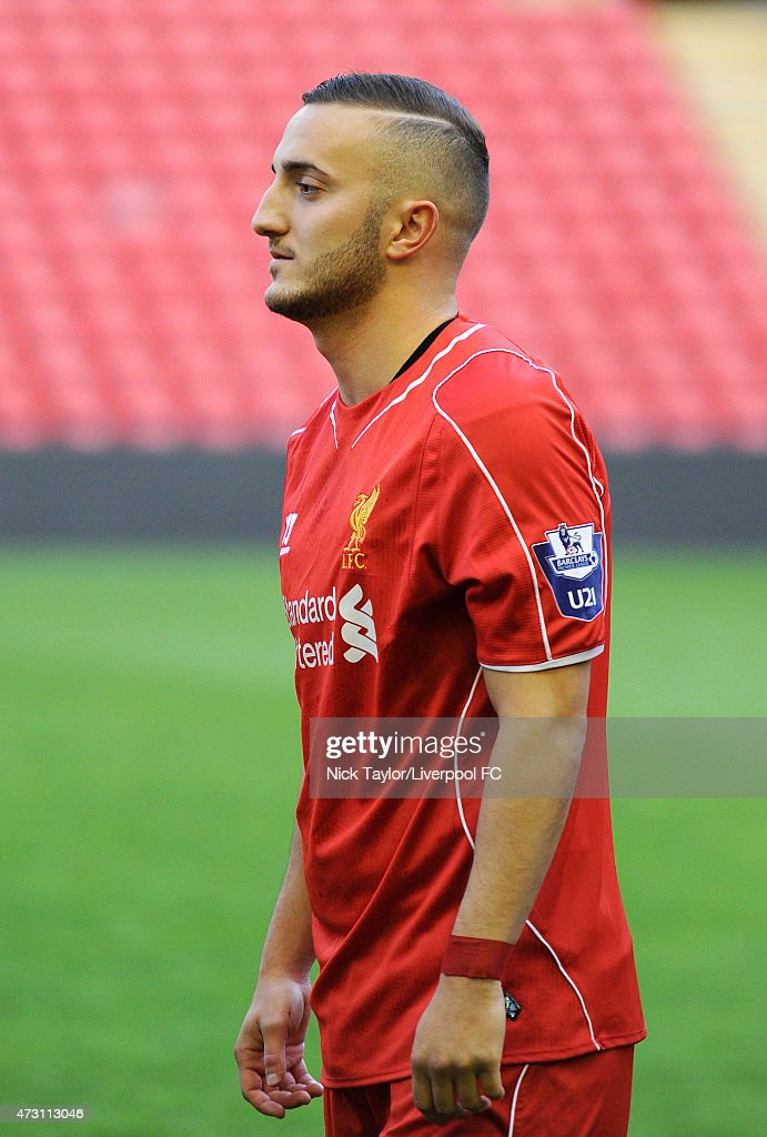 Samed Yesil of Liverpool before the U21 Premier League match between Liverpool and Norwich City at Anfield on May 11, 2015 in Liverpool, England.