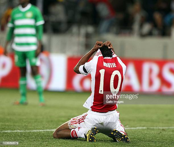 Sameehg Doutie from Ajax CT hides his face after missing a easy goal during the Absa Premiership match between Ajax Cape Town and Blomfontein Celtic...