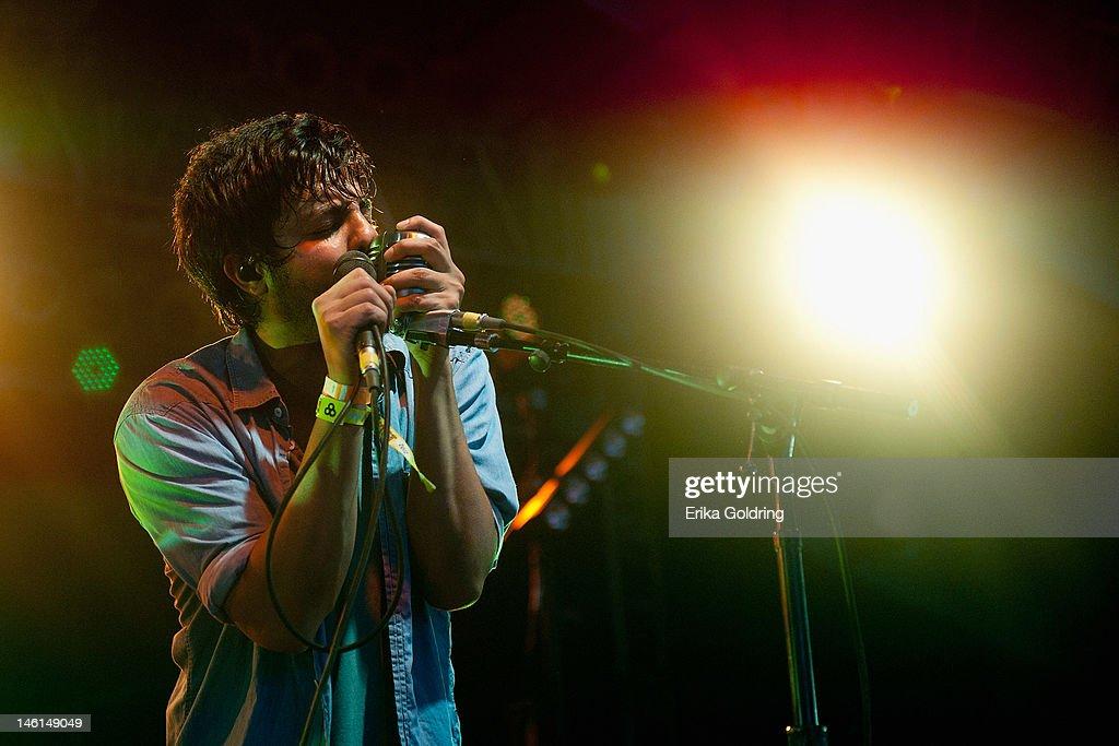 Sameer Gadhia of Young The Giant performs in This Tent during the 2012 Bonnaroo Music and Arts Festival on June 10, 2012 in Manchester, Tennessee.
