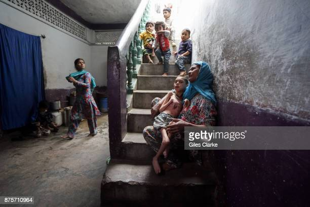 Sameer Hasan 16 years old with his mother Wahida at home in the Tila Jamalpura neighborhood Sameer was born to parents contaminated by a carcinogenic...
