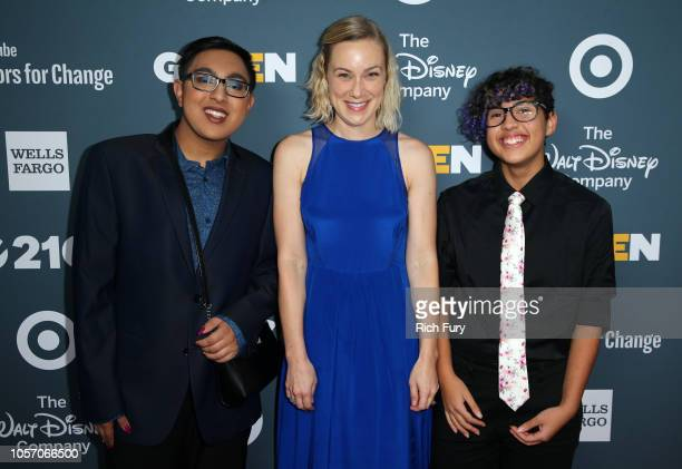 Sameer Jha Kati Morton and Kian TortorelloAllen attend the GLSEN Respect Awards at the Beverly Wilshire Four Seasons Hotel on October 19 2018 in...