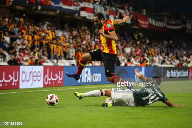 Sameh Derbali of Esperance de Tunis and Angel Zaldivar of CD Guadalajara during the FIFA Club World Cup UAE 2018 5th Place Match between ES Tunis and...