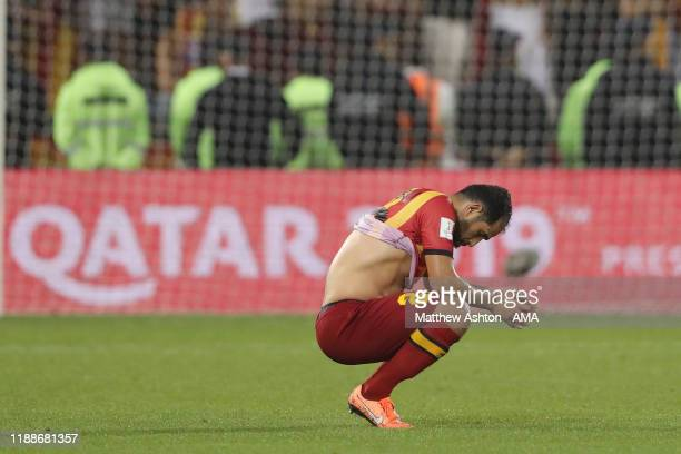 Sameh Derbali of Esperance Sportive de Tunis dejected at full time of the FIFA Club World Cup 2nd round match between Al Hilal and Esperance Sportive...