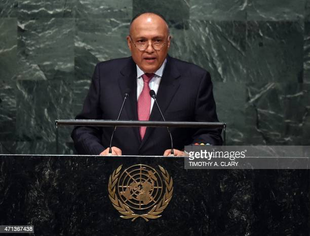Sameh ShoukryMinister of Foreign Affairs of Egypt addresses the 2015 Review Conference of the Parties to the Treaty on the NonProliferation of...