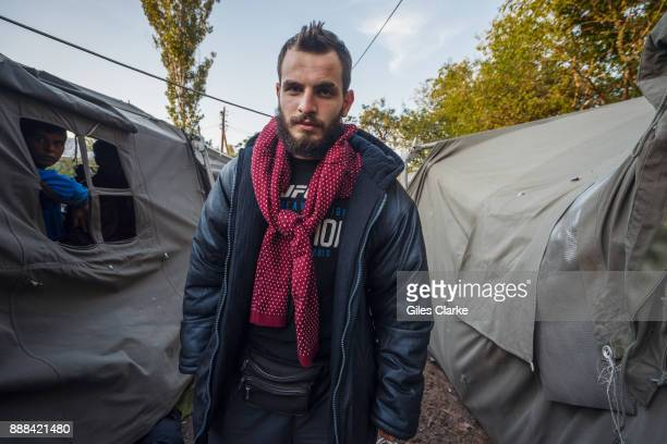 Samer Hamdo a 23 years old from Hama Syria poses for a portrait photograph on October 3 2015 Samer is 23 years old Syrian from the city of Hama Samer...