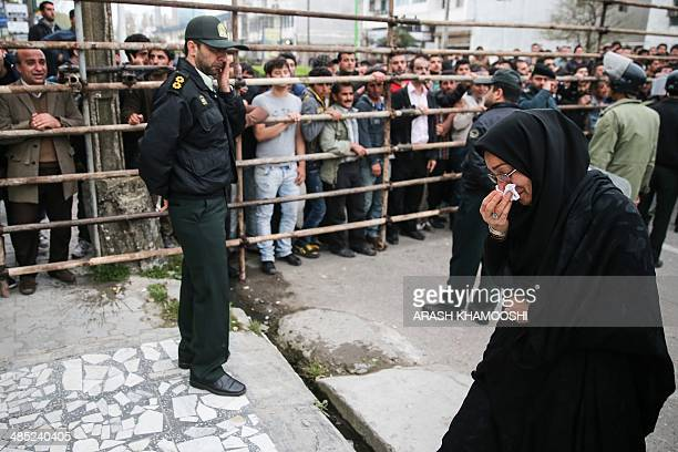 Samereh Alinejad the mother of Abdolah Hosseinzadeh who was killed by a fellow Iranian named Balal in a street fight with a knife in 2007 cries after...
