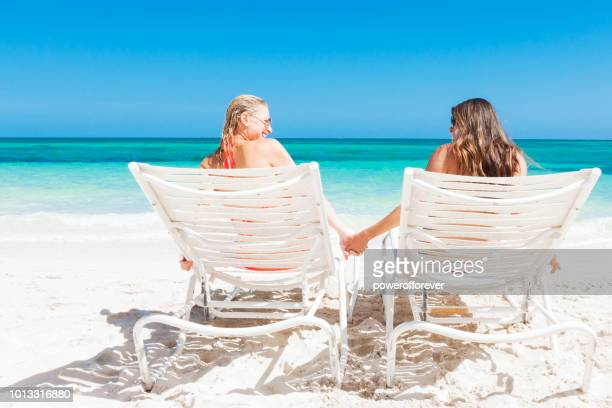 Same-sex Couple on the Beach in The Bahamas