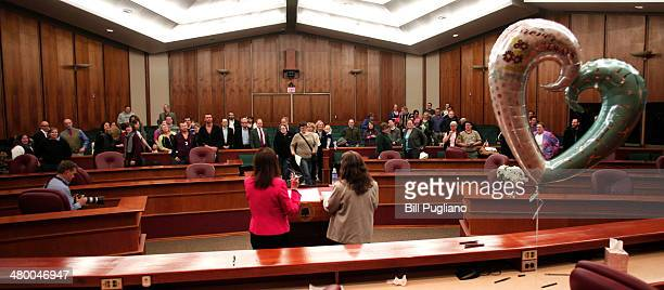 Samesex couples get married in a group ceremony by the Oakland County Clerk at the Oakland County Courthouse on March 22 2014 in Pontiac Michigan A...