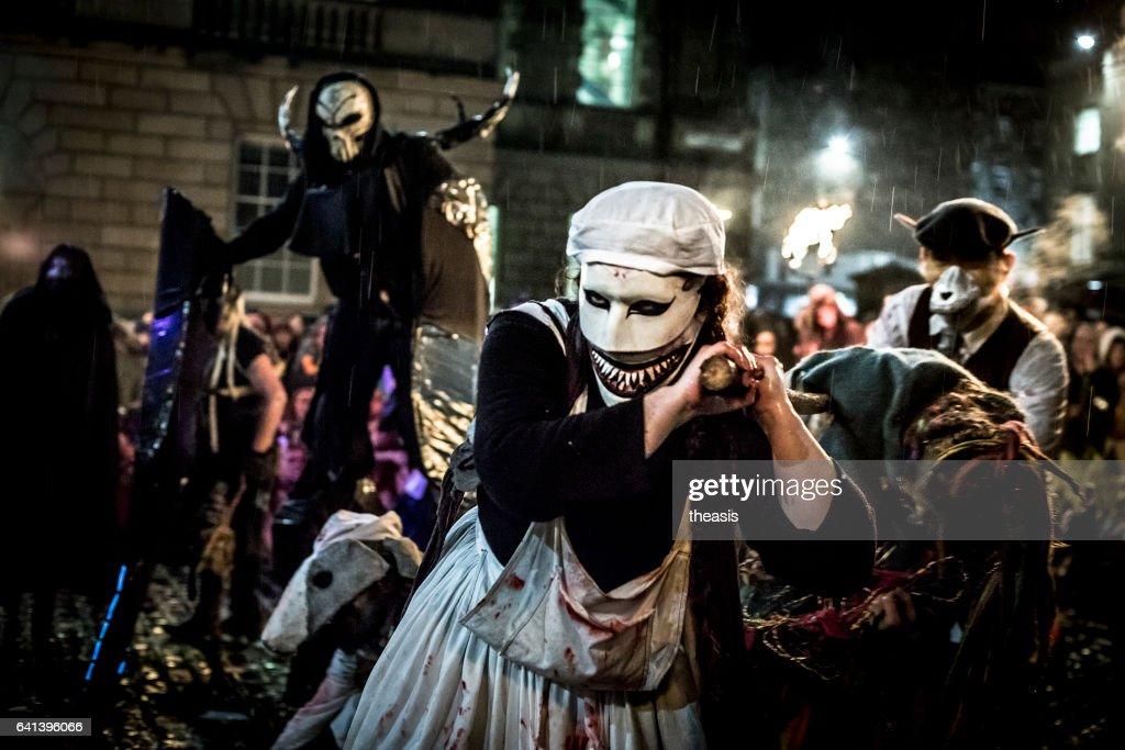 Samhuinn Fire Festival At Halloween in Edinburgh : Stock Photo