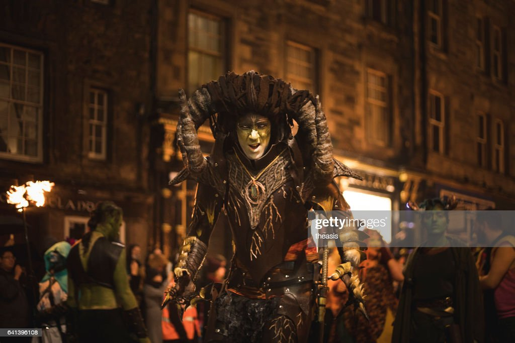 Samhuinn Fire Festival At Halloween in Edinburgh : Stock Photo