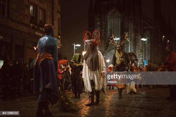 samhuinn fire festival at halloween in edinburgh - istock stock pictures, royalty-free photos & images