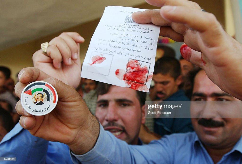 Hussein Unopposed In Presidential Referendum : News Photo