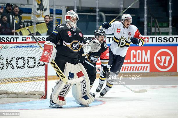Sami Aittokallio of Karpat Oulu in action during the Champions Hockey League quarter final between Karpat Oulu and Espoo Blues at Oulun...