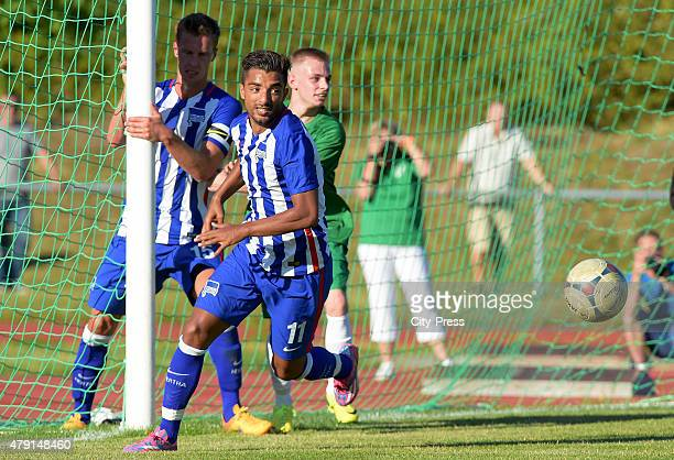 Sami Allagui of Hertha BSC during the game between dem 1 FC Luebars and Hertha BSC on July 1 2015 in Berlin Germany
