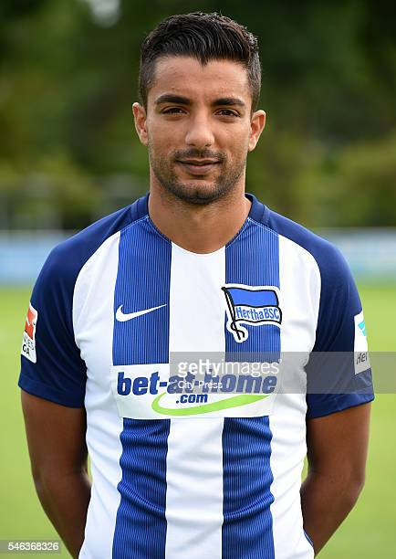 Sami Allagui of Hertha BSC during the team presentation of Hertha BSC on July 12 2016 in Berlin Germany