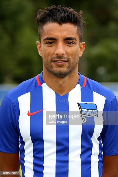 Sami Allagui poses during the Hertha BSC team presentation on July 10 2015 in Berlin Germany