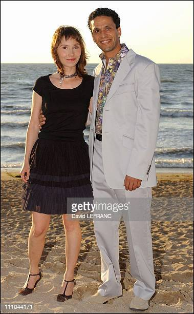 Sami Bouajila and Sylvie Feit at Cabourg Romantic Film Festival in France on June 12 2004