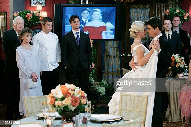 LIVES 'Sami Brady Lucas Roberts Wedding 2007' Pictured Frank Parker as Grandpa Shawn Brady Peggy McCay as Caroline Brady Chef Ben Ford as himself...
